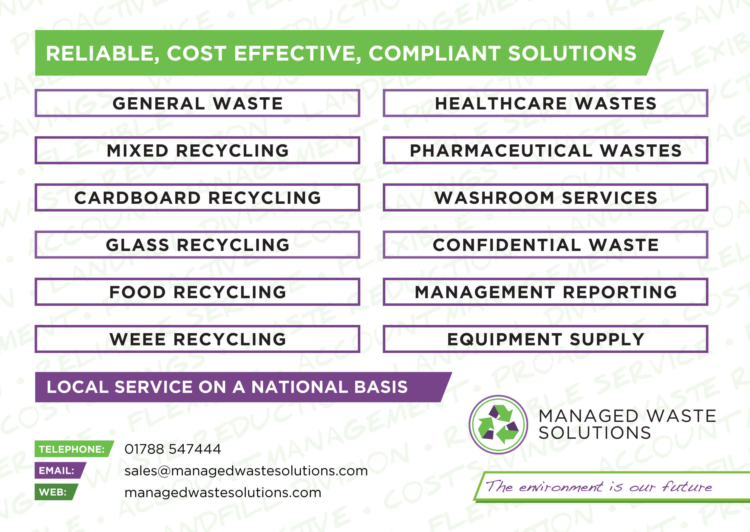 Manage Waste Solutions - New Website Comming Soon